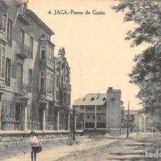 Postales: JACA (HUESCA).- PASEO DE GALÁN. Lote 103927059