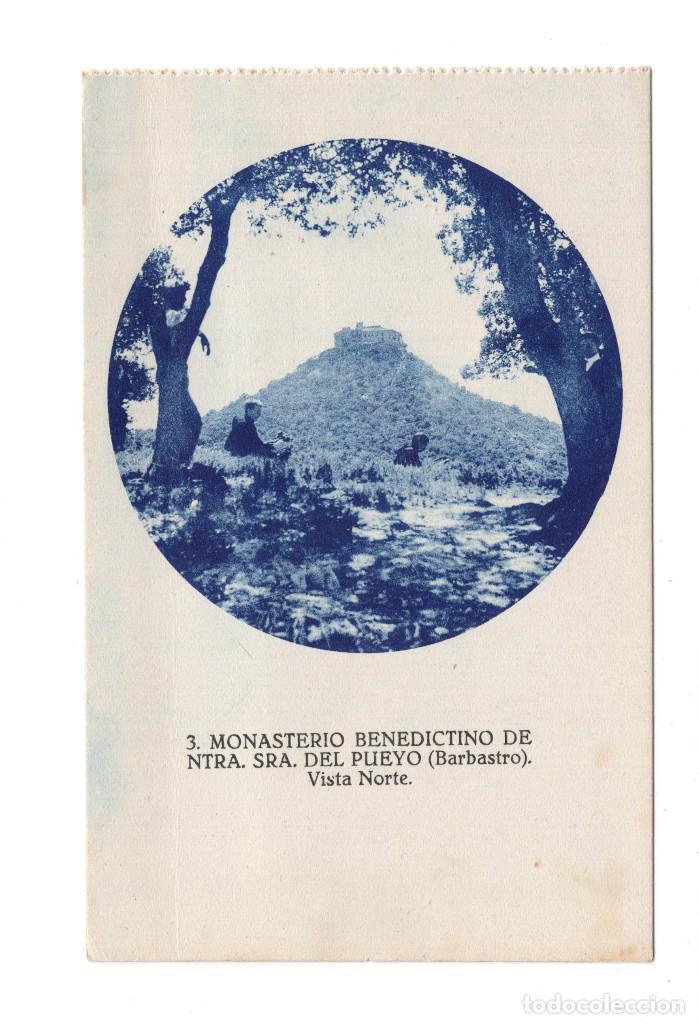 BARBASTRO - MONASTERIO BENEDICTINO DE NTRA. SRA. DEL PUEYO. VISTA NORTE (Postales - España - Aragón Antigua (hasta 1939))
