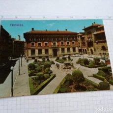 Postales: POSTAL Nº 554 - ARAGON - TERUEL, PLAZA GENERAL VARELA, BANCO DE ESPAÑA - ED. PARIS 1970. Lote 104222703