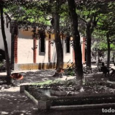 Postales: JARABA (ZARAGOZA).- BALNEARIO DE SICILIA.- GRAN PARQUE Y CAPILLA. Lote 104282351