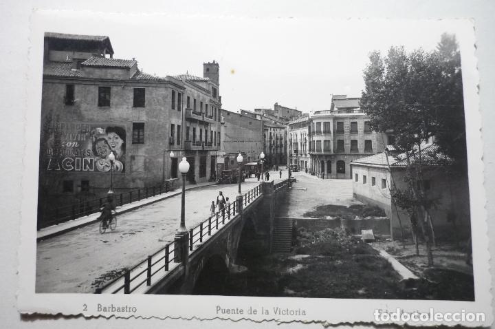 POSTAL BARBASTRO .-PUENTE DE LA VICTORIA- EDC.ARRIBAS CM (Postales - España - Aragón Moderna (desde 1.940))