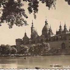 Postales: POSTAL ZARAGOZA TEMPLO DEL PILAR Y RIO EBRO ESCRITA - -C-3. Lote 105002095