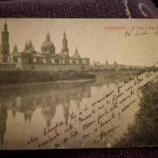 Postales: ZARAGOZA - EL PILAR Y RIO EBRO. AÑO 1915. MAGNÍFICA .. Lote 105102939