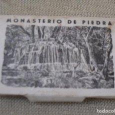 Postales: 12 MINIFOTOGRAFIAS ANTIGUAS DEL MONASTERIO DE PIEDRA. ZARAGOZA.. Lote 105216735