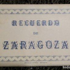 Postales: BLOC POSTAL RECUERDO DE ZARAGOZA CON 10 POSTALES ALMACENES EL CICLON. Lote 105271347