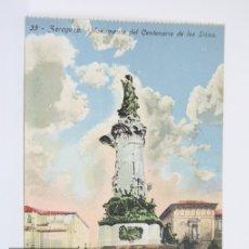 Postales: ANTIGUA POSTAL EN COLOR - ZARAGOZA, MONUMENTO DEL CENTENARIO DE LOS SITIOS Nº 35 - SIN CIRCULAR. Lote 105960906