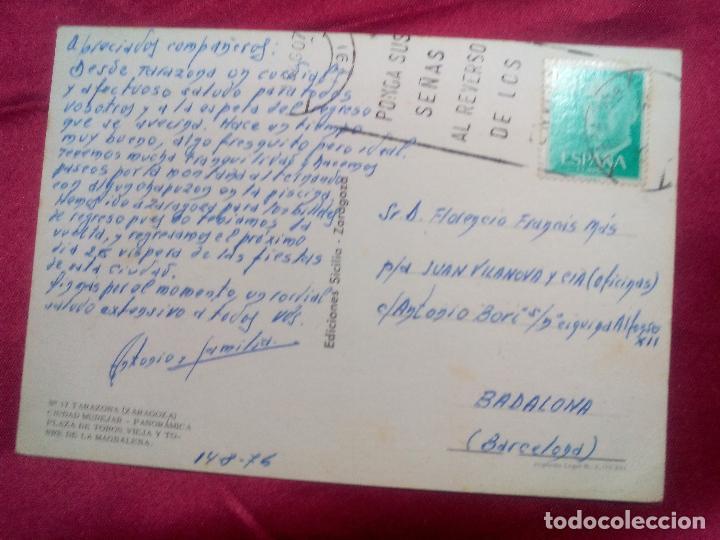 Postales: TARJETA POSTAL. Nº 17. TARAZONA. ZARAGOZA. PANORAMICA. CIUDAD MUDEJAR. PLAZA DE TOROS. SICILIA - Foto 2 - 107357887
