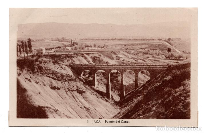 JACA. HUESCA.- PUENTE DEL CANAL. EDICIÓN F. DE LAS HERAS Nº 5 (Postales - España - Aragón Antigua (hasta 1939))