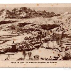 Postales: HUESCA. VALLE DE TENA.- EL PUEBLO DE PANTICOSA EN INVIERNO. Lote 107606903