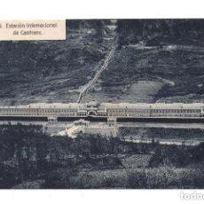 Postales: CANFRANC, HUESCA.- ESTACIÓN INTERNACIONAL - FERROCARRIL. ED. F. DE LAS HERAS. Lote 107611323