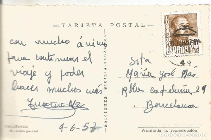 Postales: POSTAL CALATAYUD VISTA PARCIAL EDICIONES SICILIA ZARAGOZA E C 1957 - Foto 2 - 107719303