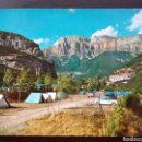 Postales: POSTAL DE TORLA. CAMPING DE ORDESA. AL FONDO, MONDARRUEGO.. Lote 108224043