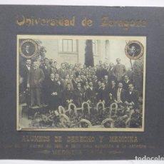 Postales: FOTOGRAFIA DE LA UNIVERSIDAD DE ZARAGOZA, CURSO 1911 / 12, ALUMNOS DE LA CATEDRA DE DERECHO Y MEDICI. Lote 108790891