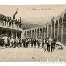 Postales: HUESCA JACA VIADUCTO Y CASA DE OBRAS. ED. F.H. SIN CIRCULAR. Lote 109593775