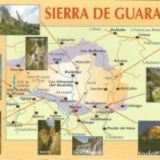 Postales: ARAGON, MAPA SIERRA DE GUARA - EDICIONES SICILIA - S/C (16,5X12). Lote 110062247