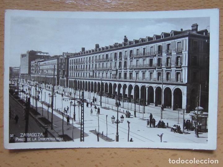 ZARAGOZA. PASEO DE LA INDEPENDENCIA. Nº37. (Postales - España - Aragón Antigua (hasta 1939))