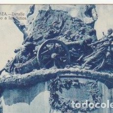Postales: POSTAL ZARAGOZA DETALLE DEL MONUMENTO A LOS SITIOS - -C-38. Lote 110767555