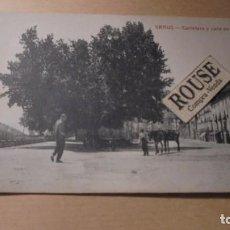 Postales: GRAUS ( HUESCA ) CARRETERA Y CALLE DE SALAMERO - CLICHÉS M. ARRIBAS - 14X9 CM. . Lote 111044399