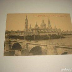Postales: ZARAGOZA Nº 6 . PUENTE DE PIEDRA Y TEMPLO DEL PILAR. THOMAS, SIN CIRCULAR. Lote 111701035