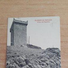 Postales: POSTAL ARAGON - ALHAMA DE ARAGON - VISTA DEL CASTILLO - VIAS DEL TREN - FERROCARRIL - TREN -. Lote 112136803