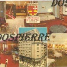 Postales: POSTAL, HOTEL REY ALFONSO, ZARAGOZA, FELICITACIÓN, CIRCULADA. Lote 112163307