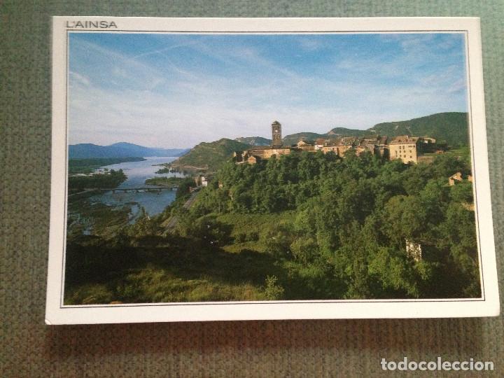 POSTAL L'AINSA HUESCA VISTA PARCIAL Y RIO CINCA (Postales - España - Aragón Moderna (desde 1.940))