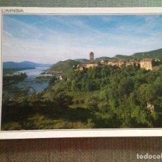 Postales: POSTAL L'AINSA HUESCA VISTA PARCIAL Y RIO CINCA. Lote 113070547