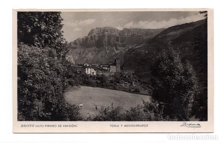 BROTO. TORLA Y MONDARRUEGO. ED ZERKOWIK. FOTOGRÁFICA (Postales - España - Aragón Antigua (hasta 1939))