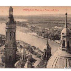 Postales: ZARAGOZA.- VISTA DE LA RIBERA DEL EBRO ARAGON ED. THOMAS. Lote 113266339