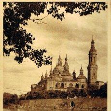 Postales: ZARAGOZA, ORILLAS SEL EBRO, ARRIBAS Nº 35. Lote 113507435