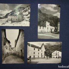 Postales: BENASQUE. LOTE 4 POSTALES FOTOGRÁFICAS SIN CIRCULAR. ED. SICILIA.. Lote 113600863