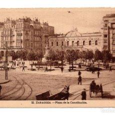 Postales: ZARAGOZA.- PLAZA DE LA CONSTITUCIÓN. EDICIONES. M . ARRIBAS. Lote 113948919