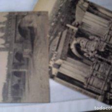 Postales: TRES POSTALES DE ZARAGOZA. TRASCORO Y CRISTO DE LA SEO.PUENTE DE PIEDRA Y EL PILAR. VISTA GENERAL.. Lote 114611523