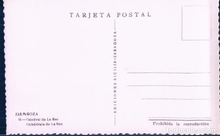 Postales: POSTAL ZARAGOZA 38 - CATEDRAL DE LA SEO - SICILIA - Foto 2 - 114861915