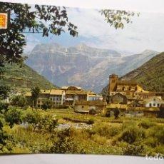 Postales: POSTAL BROTO - VISTA PARCIAL AL FONDO MONDARRUEGO. Lote 115365879