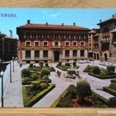Postales: TERUEL - PLAZA DEL GENERAL VARELA Y BANCO DE ESPAÑA. Lote 115397207