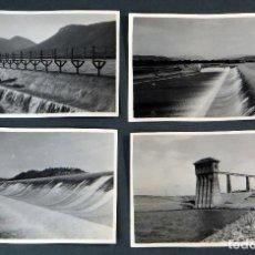 Postales: 4 POSTALES FOTOGRÁFICAS PANTANO PRESA ARDISA RÍO GÁLLEGO HUESCA ÉPOCA CONSTRUCCIÓN 1927 SIN CIRCULAR. Lote 115465843