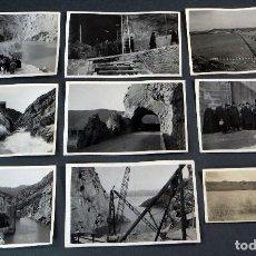 Postales: 9 POSTALES FOTOGRÁFICAS CONSTRUCCIÓN PANTANO BARASONA PUEBLO Y PANTANO SOTONERA BARBASTRO AÑOS 30. Lote 115466623