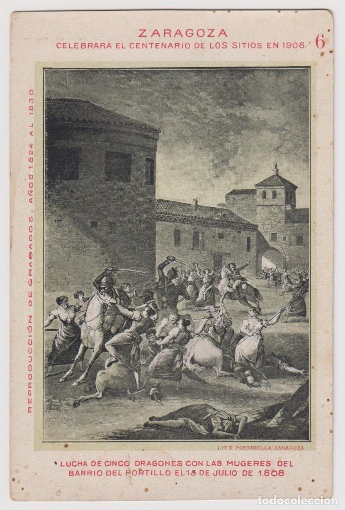 Postales: RUINAS DE ZARAGOZA. LOTE DE 24 TARJETAS POSTALES EDITADAS CON OCASION DEL CENTENARIO DE LOS SITIOS. - Foto 8 - 116831939