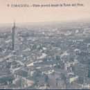 Postales: POSTAL ZARAGOZA 9 - VISTA PARCIAL DESDE LA TORRE . Lote 117509399