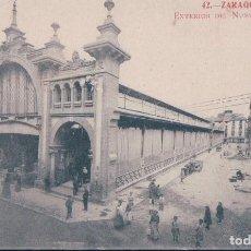 Postales: POSTAL ZARAGOZA 42 - EXTERIOR DEL NUEVO MERCADO - FOTOTIPIA MADRIGUERA. Lote 117511891