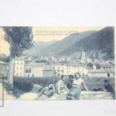 Postales: ANTIGUA POSTAL ANIMADA - BIESCAS, CAMINO DE LA CONCHADA, VISTA PARCIAL BARRIO DEL SALVADOR - AÑOS 20. Lote 118889895