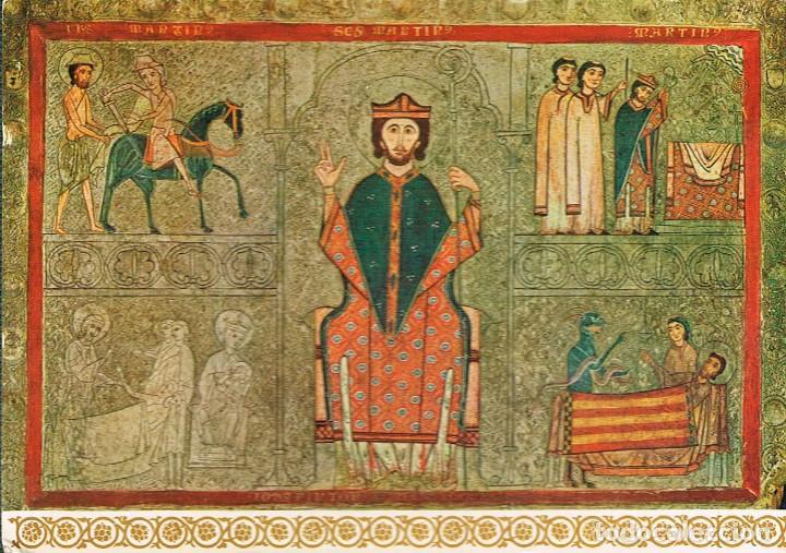 CHIA (HUESCA), FRONTAL DE ALTAR DEDICADO A SAN MARTIN DE TOURS, EN EL MUSEO DE ARTE DE CATALUÑA (Postales - España - Aragón Moderna (desde 1.940))