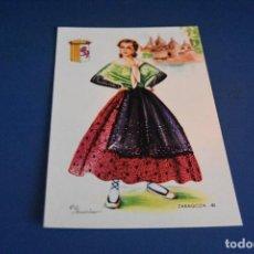 Postales: POSTAL SIN CIRCULAR - DIBUJO TRAJE REGIONAL ZARAGOZA 40 - EDITA F MOLINA - MADRID. Lote 119053463