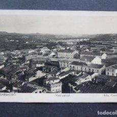 Postales: POSTAL FOTOGRAFICA DE BARBASTRO / VISTA PARCIAL / EXCLUSIVAS CASTILLON Nº 4 / MUY RARA. Lote 119109783