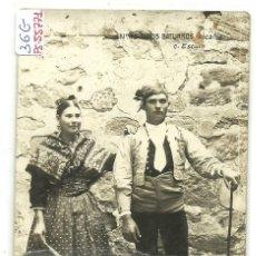 Postales: (PS-55771)POSTAL FOTOGRAFICA DE ALCAÑIZ-TIPOS BATURROS. Lote 119658287