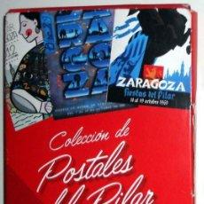 Cartes Postales: COLECCION COMPLETA 27 POSTALES CARTELES FIESTAS DEL PILAR ZARAGOZA - NUEVO!! - HERALDO ARAGON. Lote 120129927