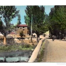 Postales: TORRIJO DEL CAMPO - PUENTE SOBRE EL RIO JILOCA - ENTRADA AL PUEBLO - EDICIONES MONTAÑES. Lote 120953791