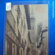 Postales: (PS-55962)POSTAL DE CALATAYUD-CALLE DE GRACIAN(ANTES AULAS) Y TORRE DE SANTA MARIA. Lote 121717887