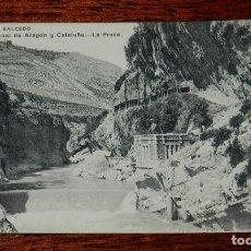 Postales: POSTAL DEL CANAL DE ARAGON Y CATALUÑA, COLECCION SALCEDO, N. 1, LA PRESA, NO CIRCULADA, FOT. LACOSTE. Lote 121797627